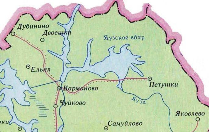 Рыболовный карта яузского